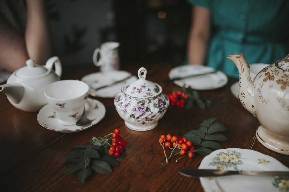 Tee trinken Seniorenbetreuung